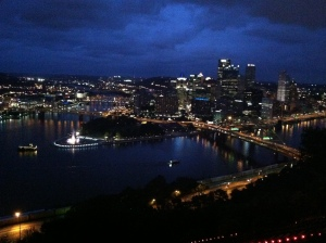 Pittsburgh at night - very cool