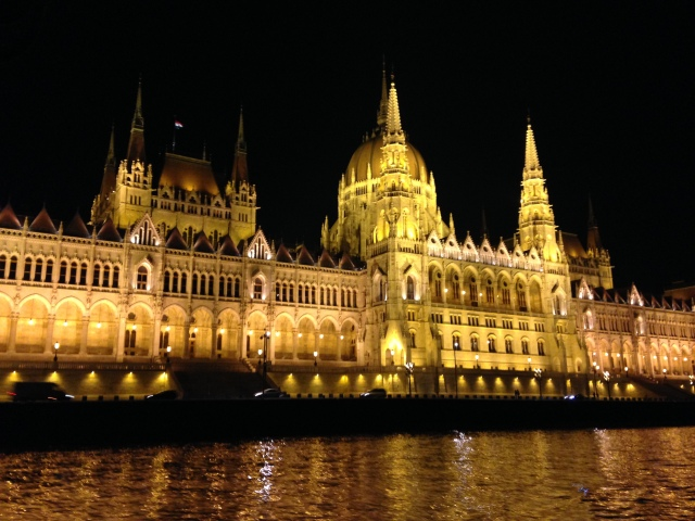 Danube River Cruise - Hungarian Parliament Building by night (photo by Lindsay...)